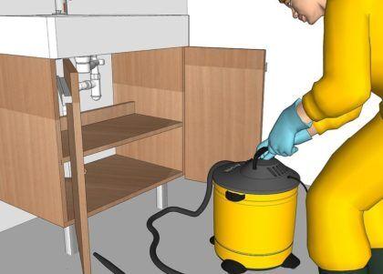 Используем промышленный пылесос