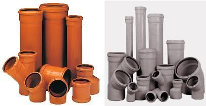 Канализационные поливинилхлоридные трубы для внутреннего использования