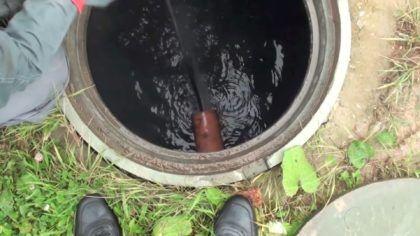 Промывка канализационной трубы