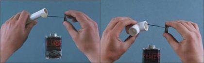 Процесс соединения ПВХ труб сводится к склеивают поверхностей