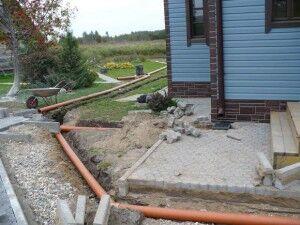 Расположение труб ливневой канализации