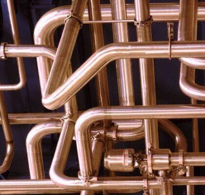 Спаяные медные трубы