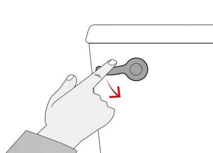 Спустите воду из бачка, чтобы проверить слив