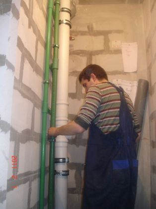 замена канализационного стояказамена канализационного стояка