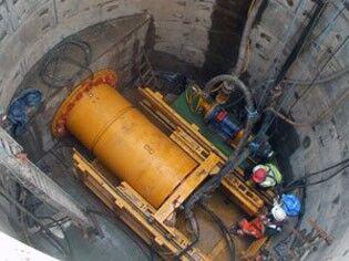 Использование кессона для строительства тоннеля
