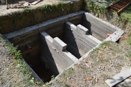 Конструкция после демонтажа опалубки