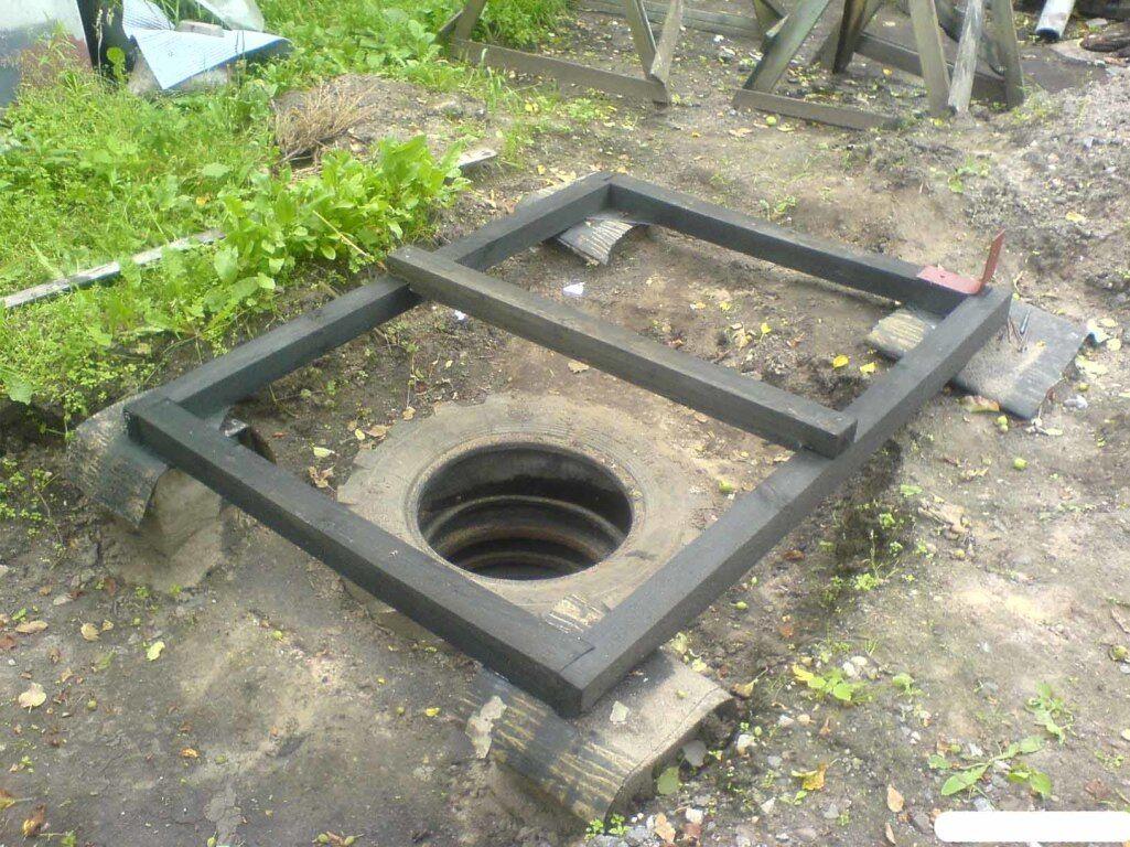Туалет и душ из кирпича под одной крышей для дачи своими руками
