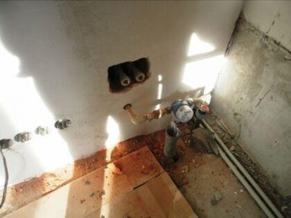 Для установки счетчика необходимо временно перекрыть подачу воды