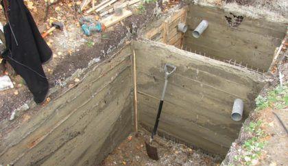 Сооружение бетонного септика