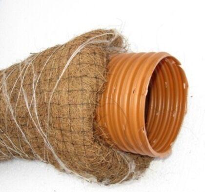 Труба дренажная гофрированная с фильтром из кокосового волокна