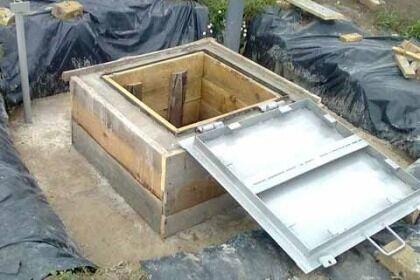 Шахта люка бетонного кессона