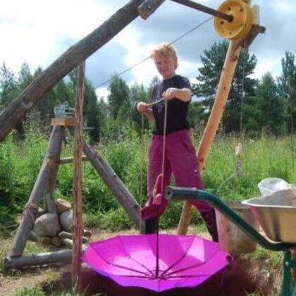 Вентилируем колодезную шахту зонтиком