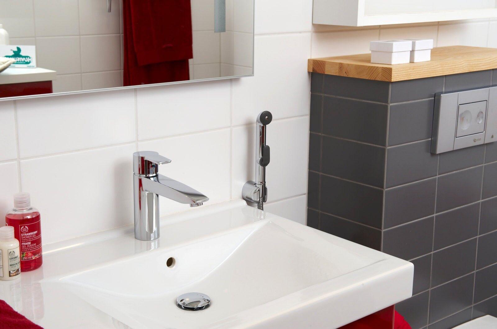 Картинки по запросу смеситель для раковины с гигиеническим душем