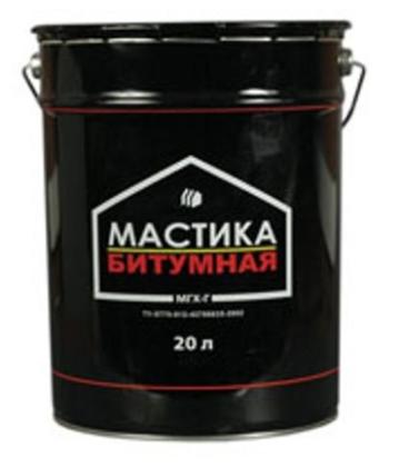 Обычная битумная мастика обладает прекрасными гидроизолирующими свойствами