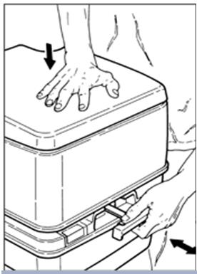 Проверка фиксации верхней емкости биотуалета