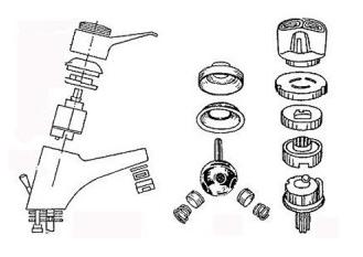 Устройство водоразборного крана с шаровым механизмом