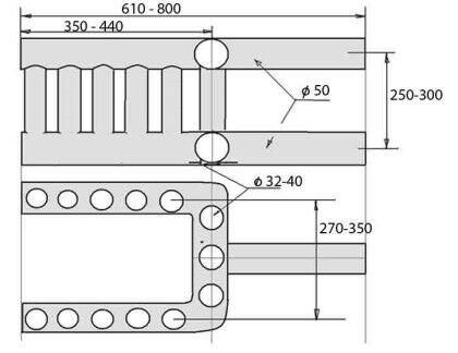 Схема регистра из труб