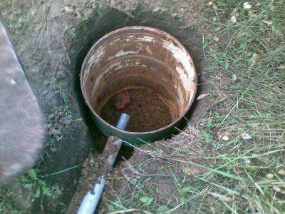 Подвод трубопровода к бочке
