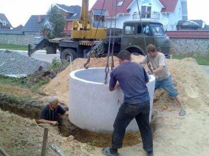 Септик из бетонных колец под ключ стоимость