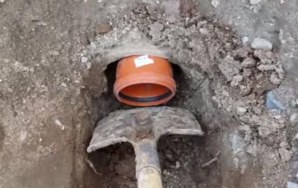 Вывод трубы через фундамент