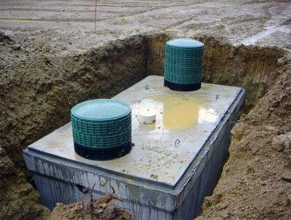 Монолитный бетонный септик