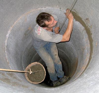 Швы бетонных колец потеряют герметичность