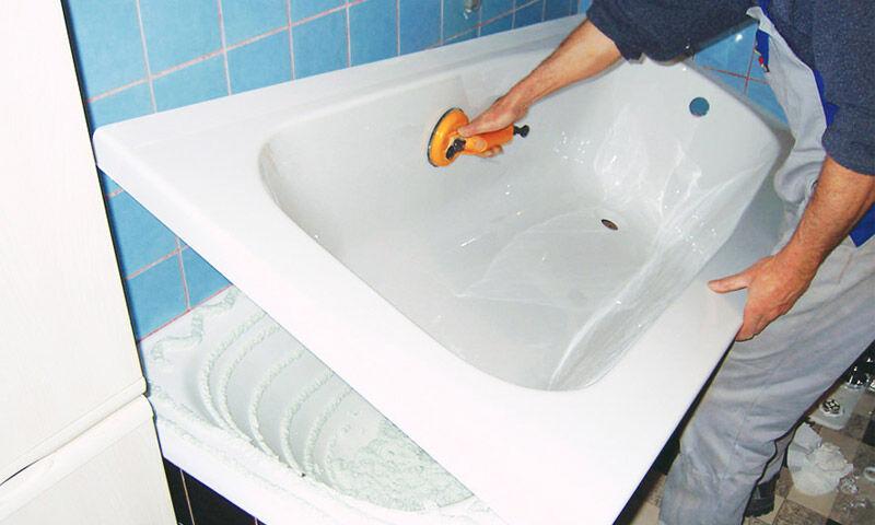 как обновить ванну акрилом видео