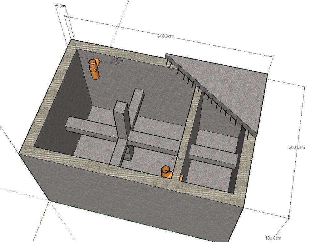 Двухкамерный септик для частного дома своими руками