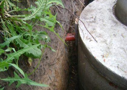 Подключение канализационной трубы