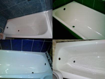 Примеры ванн, отреставрированных данным способом