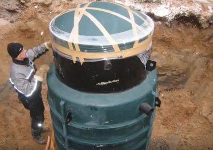 Септик Green Rock IISI 6 опущен в котлован