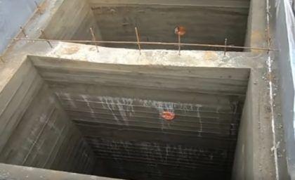 Стенки залиты, бетон затвердел