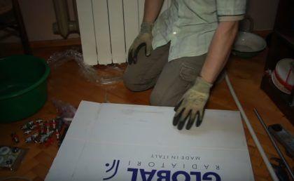 Упаковка из-под радиатора