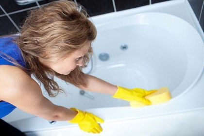 Эмаль защищает ванну от агрессивных чистящих средств