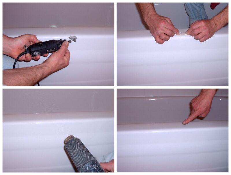 Восстановить скол эмали ванны своими руками