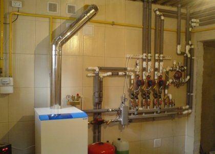 Газовый отопительный котел