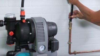 Насос соединяется с системой водоснабжения