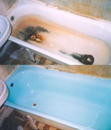 Новый цвет ванны может быть любым