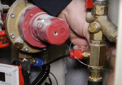 Опломбирование элементов счетчика отопления