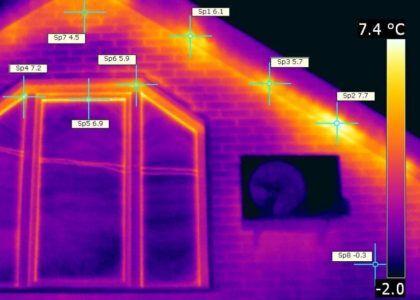 Определение мест тепловых потерь с помощью тепловизора