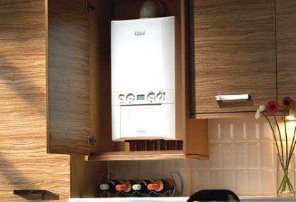 Отопительный котел, встроенный в кухонную мебель