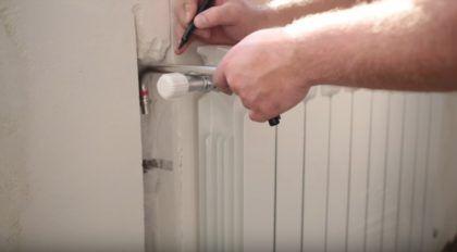 Подготовка трубок для подключения радиатора