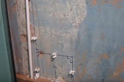 Разметка труб и фитингов водопровода из полипропилена