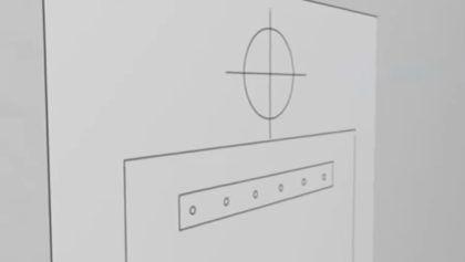 Некоторые комплекты снабжаются шаблоном в виде картонного листа. С ним разметить точки крепежа очень легко – приложите лист к стене и отметьте нужные места карандашом или маркером