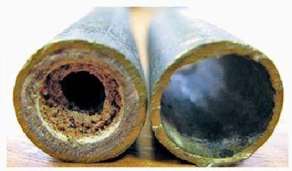 В ходе эксплуатации уменьшается полезный диаметр труб
