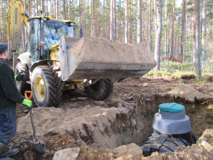 Засыпка автономной канализации «Rostok»