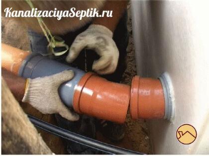 Как правильно соединить канализационные трубы