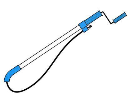 Купите или одолжите трос для прочистки труб