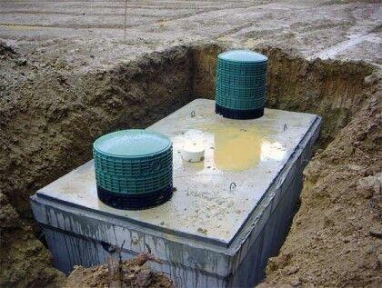 Монолитный бетонный септик для дачи