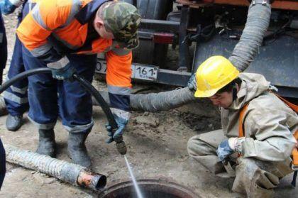 Очистка канализации гидродинамическим способом